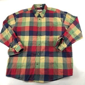 ORVIS Plaid Check Long Sleeve Signature Men Shirt